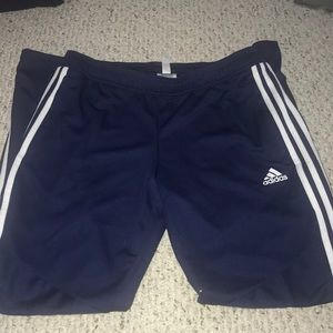 Navy Adidas Tapered Pants